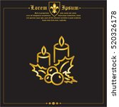 web line icon. christmas candle ... | Shutterstock .eps vector #520326178