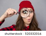 portrait of a funny young woman ... | Shutterstock . vector #520332016