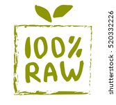 raw food hand drawn label... | Shutterstock .eps vector #520332226