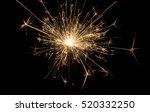 fire sparklers on black... | Shutterstock . vector #520332250