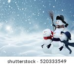 merry christmas and happy new... | Shutterstock . vector #520333549