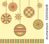 christmas background with... | Shutterstock .eps vector #520333648