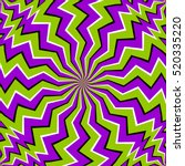 Green Zigzags  Spin Illusion