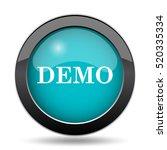 demo icon. demo website button... | Shutterstock . vector #520335334