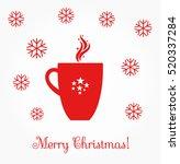 christmas coffee red mug... | Shutterstock .eps vector #520337284