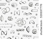 hand drawn seamless pattern... | Shutterstock .eps vector #520337770