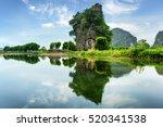 scenic natural karst tower...   Shutterstock . vector #520341538