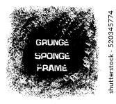 grunge white sponge frame....   Shutterstock .eps vector #520345774