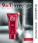 b.b. cream ads. vector... | Shutterstock .eps vector #520348918