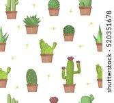cactus desert plant blossom... | Shutterstock .eps vector #520351678
