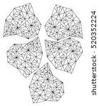 crystals. | Shutterstock .eps vector #520352224