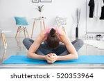 young caucasian woman... | Shutterstock . vector #520353964