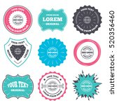 label and badge templates. iso... | Shutterstock .eps vector #520356460