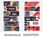 horizontal flat website banner... | Shutterstock .eps vector #520357054