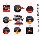 black friday sale website... | Shutterstock .eps vector #520357138