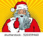 wow pop art santa claus in red... | Shutterstock .eps vector #520359460