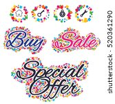 sale confetti labels and... | Shutterstock .eps vector #520361290