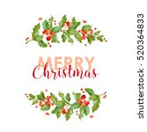new year and christmas card  ... | Shutterstock .eps vector #520364833