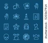 psychic fortune teller blue... | Shutterstock .eps vector #520367914