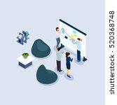 coworking freelance employed... | Shutterstock . vector #520368748