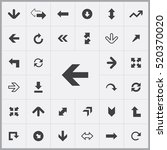 arrows icons universal set for... | Shutterstock .eps vector #520370020