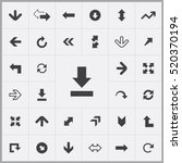 arrows icons universal set for... | Shutterstock .eps vector #520370194