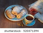Pies Of Puff Pastry With A Cup...