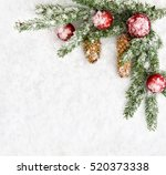 christmas decoration. branch... | Shutterstock . vector #520373338