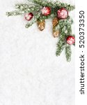 christmas decoration. branch... | Shutterstock . vector #520373350