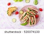 Club Sandwich With Chicken...