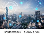 icons of wifi  internet ...   Shutterstock . vector #520375738
