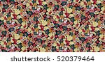 seamless floral pattern in... | Shutterstock .eps vector #520379464