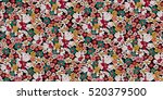 seamless floral pattern in... | Shutterstock .eps vector #520379500