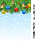 christmas background with fir... | Shutterstock .eps vector #520380550
