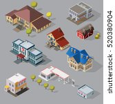 isometric high quality city... | Shutterstock . vector #520380904