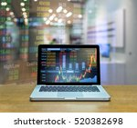 stock exchange market trading... | Shutterstock . vector #520382698