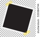 photo frame on sticky tape.... | Shutterstock .eps vector #520384744