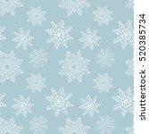 hand drawn winter sketch... | Shutterstock .eps vector #520385734
