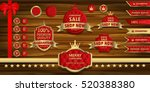 red and gold luxury label on... | Shutterstock .eps vector #520388380