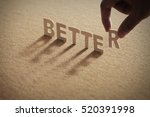 better wood word on compressed... | Shutterstock . vector #520391998