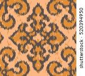 seamless textured damask pattern   Shutterstock .eps vector #520394950
