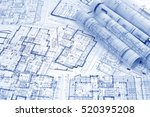 architectural project  | Shutterstock . vector #520395208