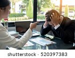 angry boss frustrated  upset... | Shutterstock . vector #520397383