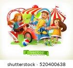kids playground. amusement park.... | Shutterstock .eps vector #520400638