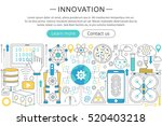 vector modern line flat design... | Shutterstock .eps vector #520403218