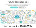 vector modern line flat design... | Shutterstock .eps vector #520403734