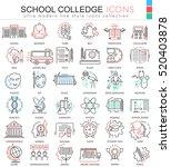 vector school and colledge... | Shutterstock .eps vector #520403878