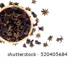 Small photo of Close up group of herb,star-anise,aegle,cinnamon,Roselle in dried.