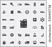 auto icons universal set for... | Shutterstock .eps vector #520405738