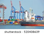tugboat assisting bulk cargo... | Shutterstock . vector #520408639